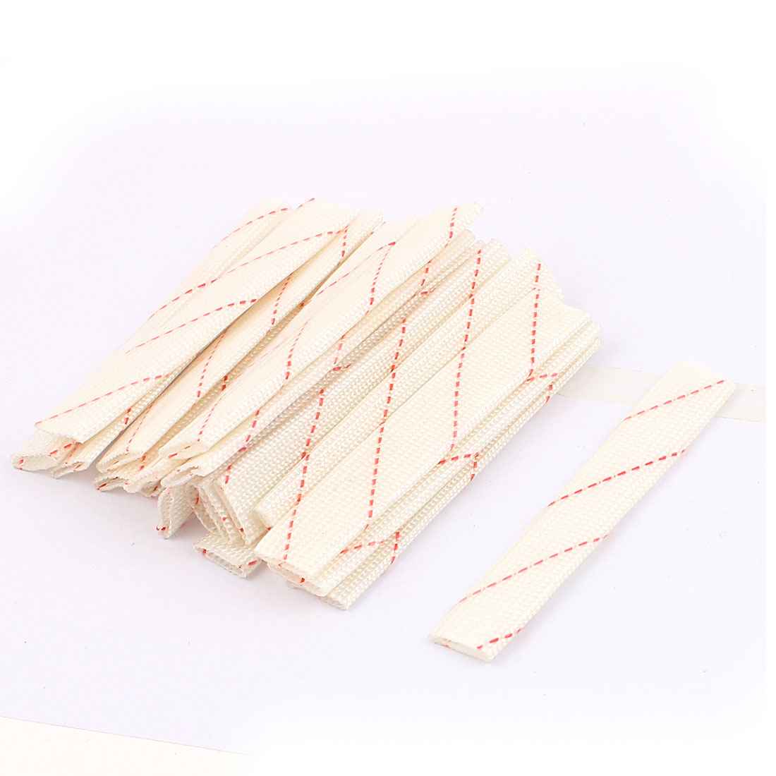 20 Pcs 10mm Electrical Wire Fiberglass Insulation Sleeving 10cm