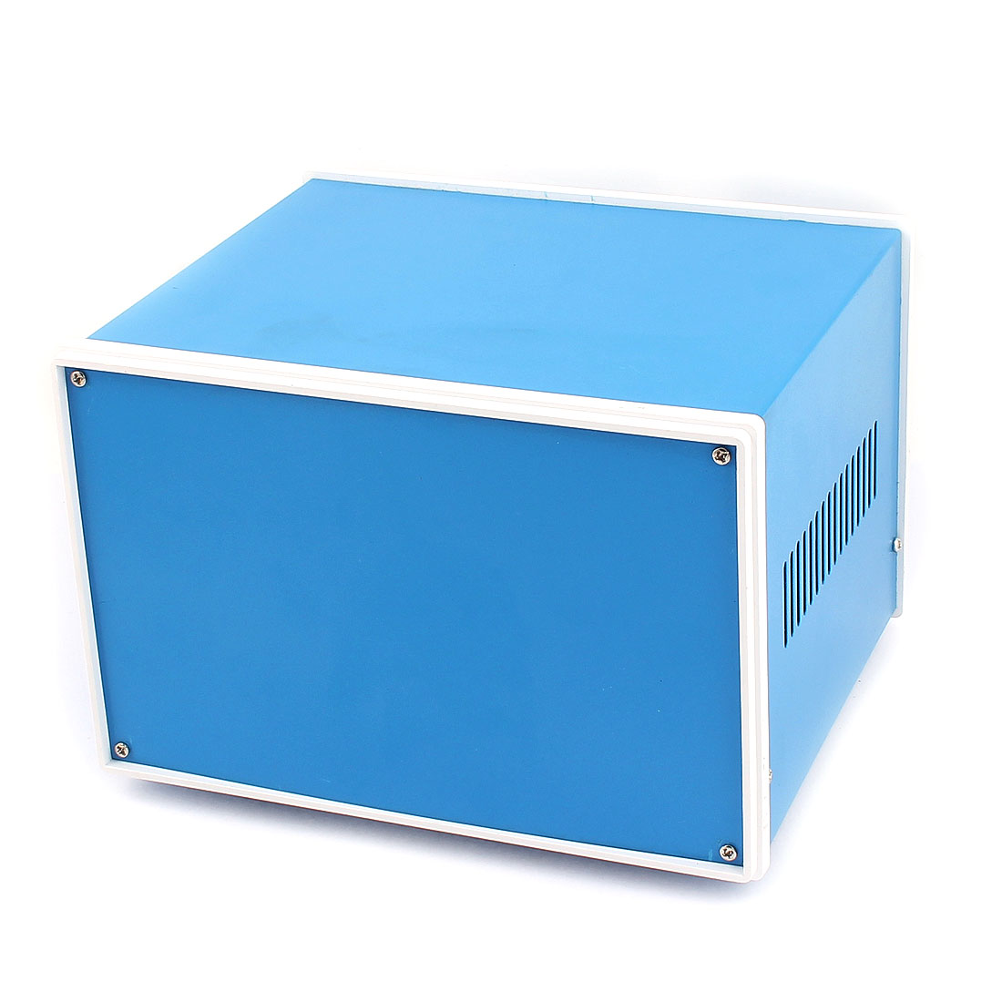 Metal Electronic Project Junction Box Enclosure Case Blue 202mm x 182mm x 132mm