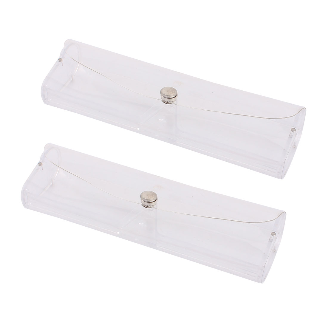 2 Pcs Clear Transparent Plastic Eyeglasses Cases Glasses Case Bag