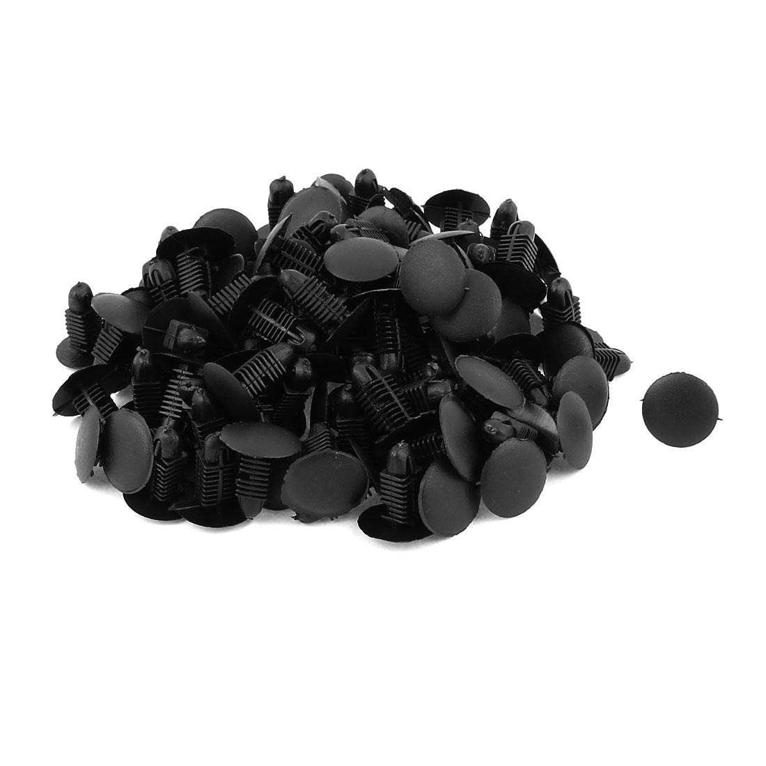 100 Pcs Car Auto Parts Plastic Push Screw Rivet Panel Fixings Clips Black