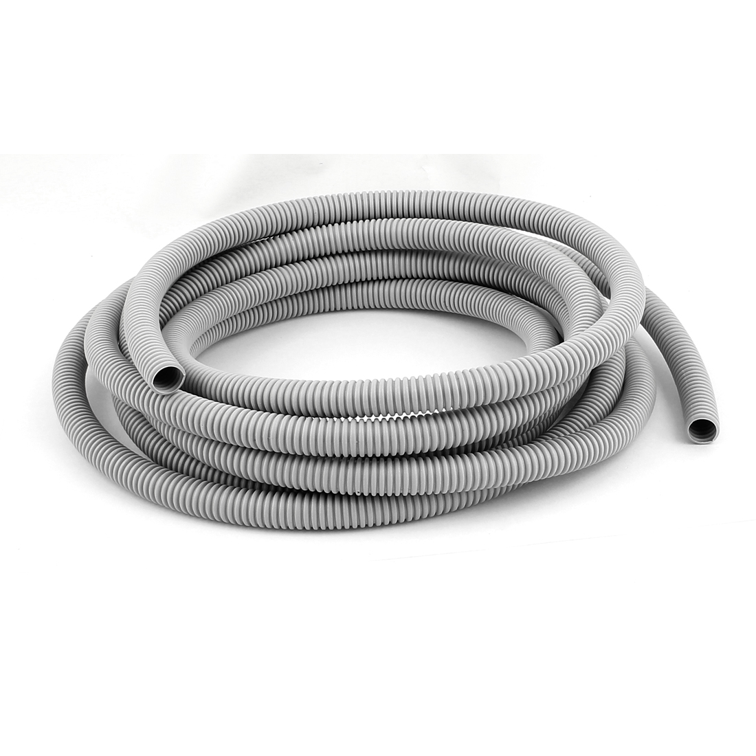 5.5m Plastic Corrugated Tube Electric Conduit Pipe Gray 12x16MM Diameter