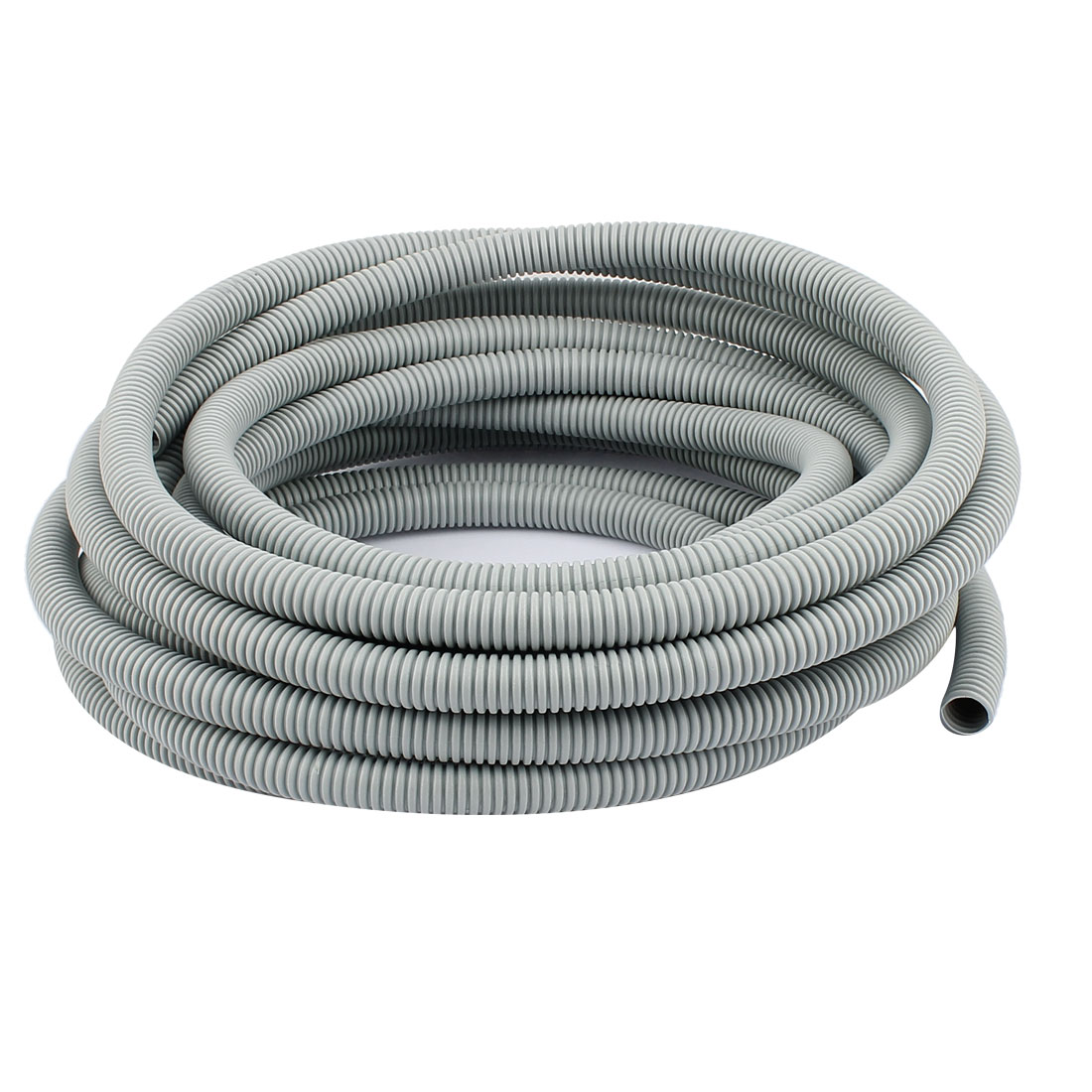 8 Meter Plastic Corrugated Tube Electric Conduit Pipe Gray 12x16MM