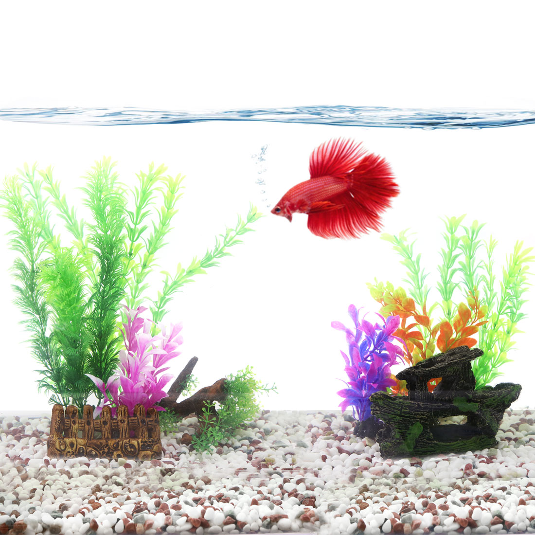 aquascape idea aquarium fish tank decoration Artificial plastic plant