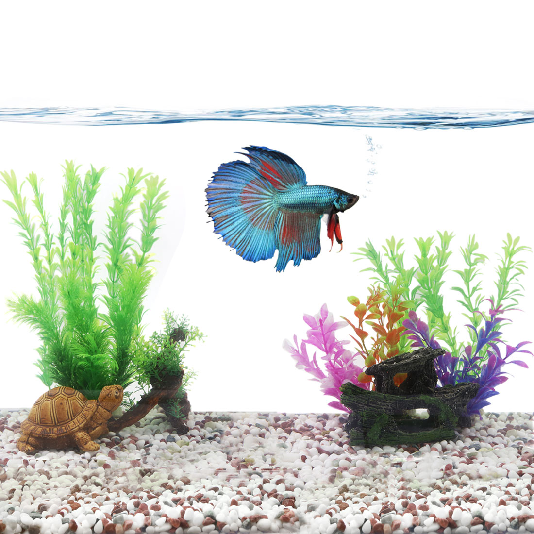 aquarium landscape idea fish tank decoration plastic plant for Betta