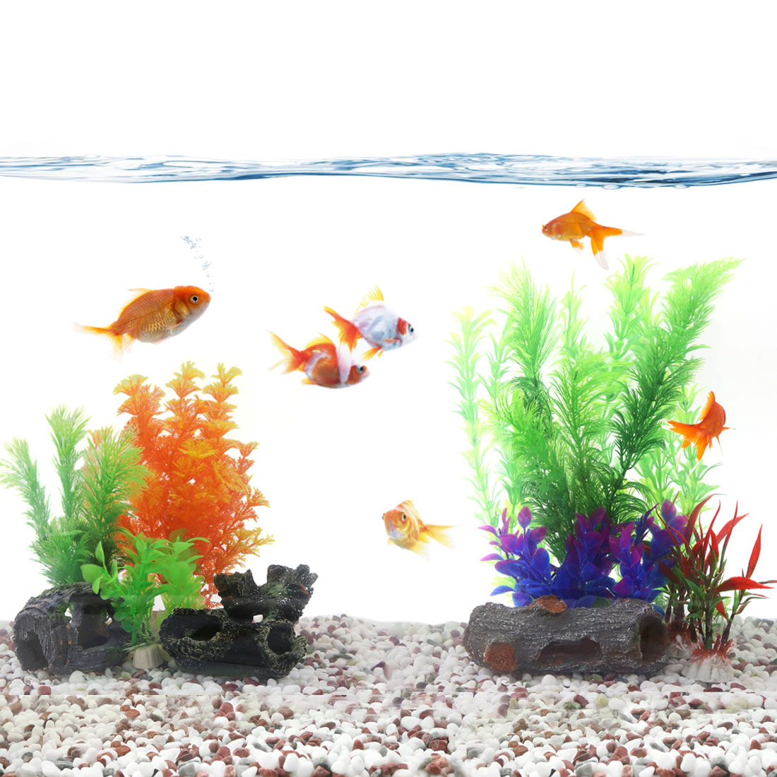 aquascape aquarium decoration Artificial plastic plant for goldfish