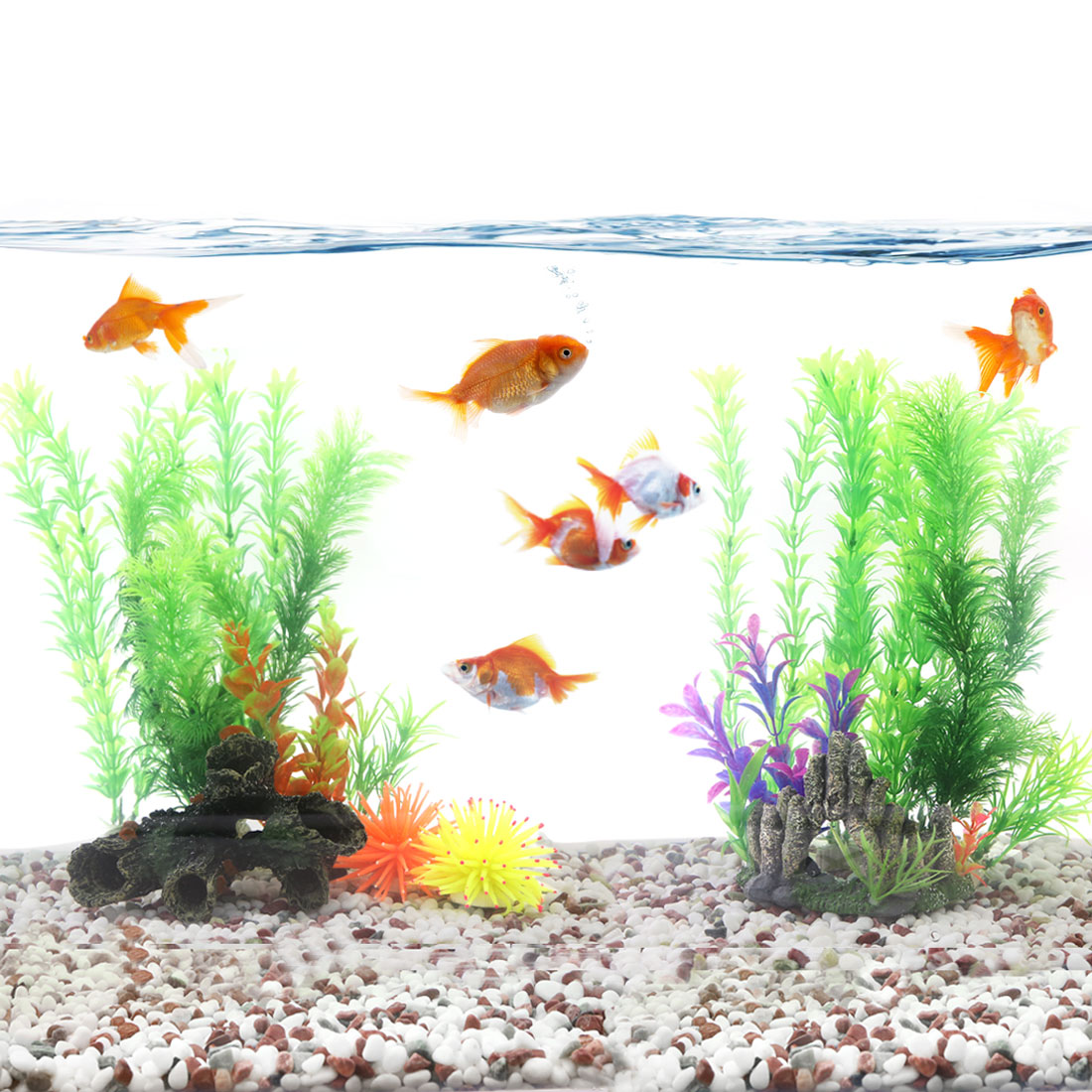 aquascape fish tank aquarium Artificial decoration plastic plant for goldfish