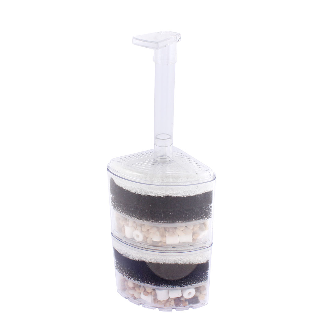 Fish Tank Plastic Air Driven Corner Filter Sponge Bump