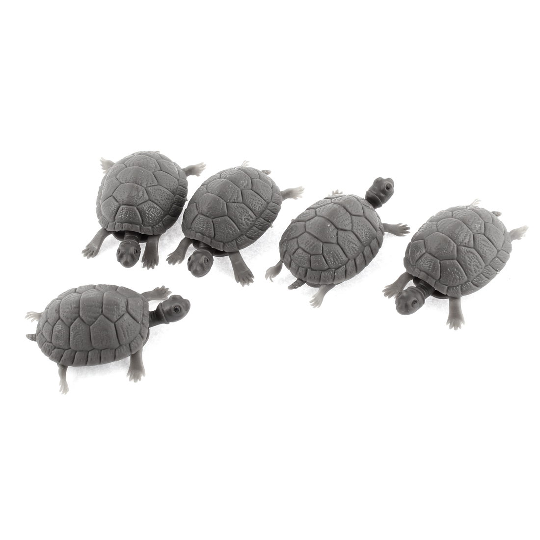 Aquarium Plastic Tortoise Decorative Ornament Fish Tank Decoration 5pcs