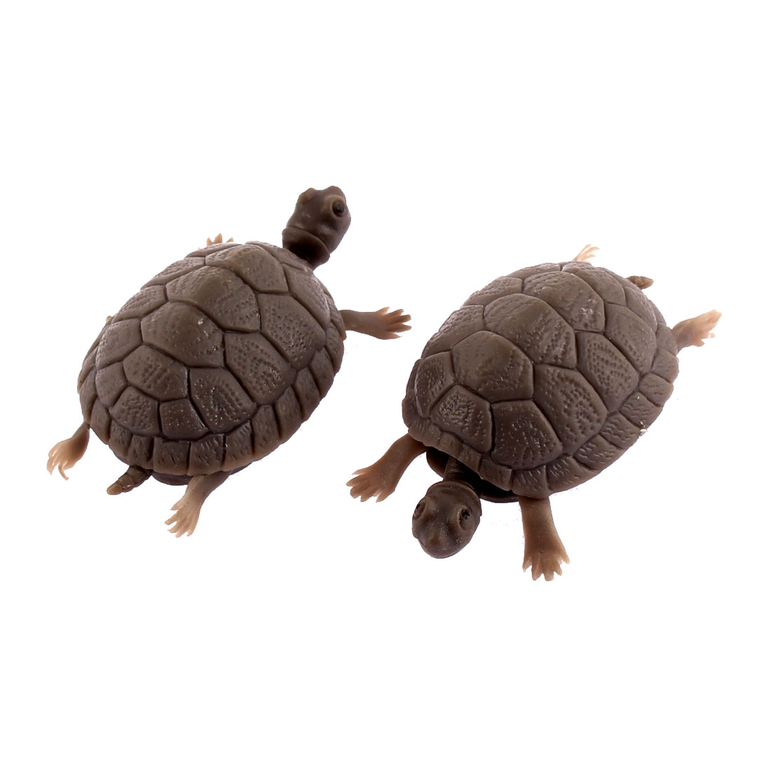 Fish Tank Plastic Tortoise Decor Aquarium Decorative Ornament 2pcs