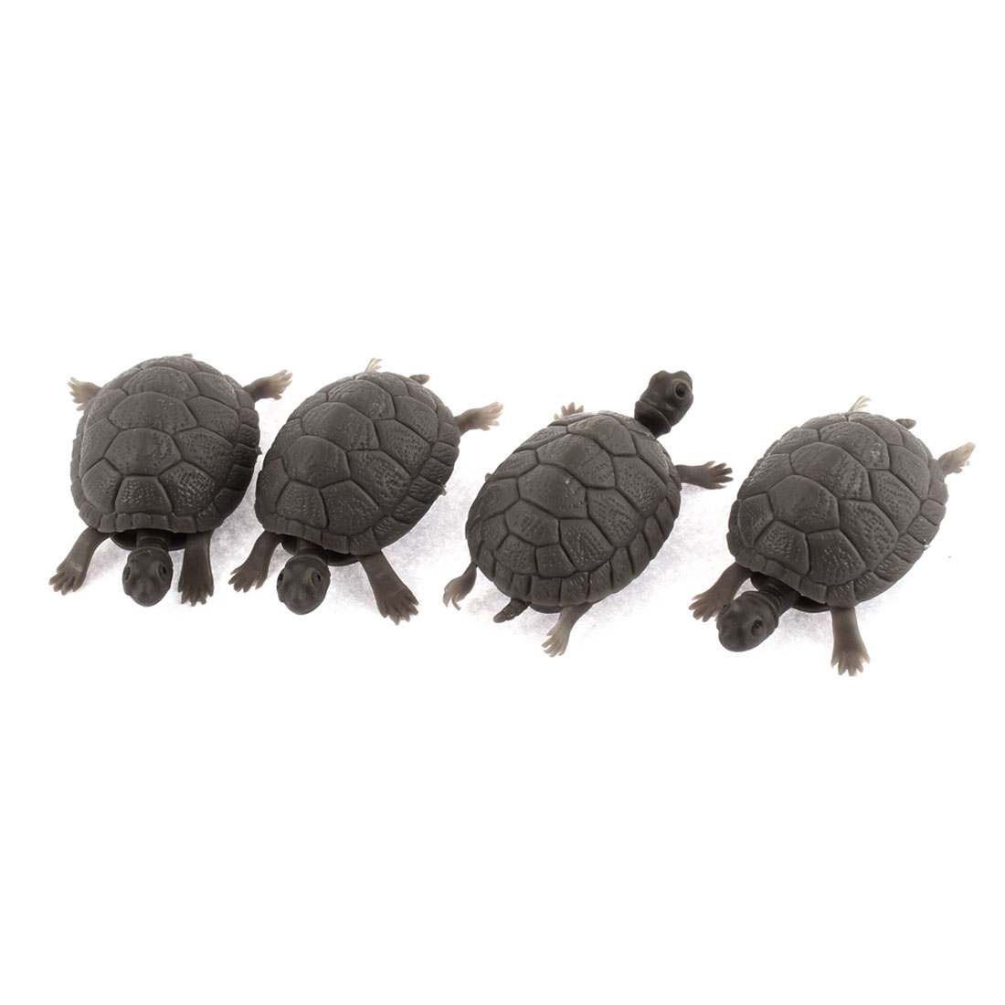Aquarium Gray Plastic Tortoise Shape Decorative Ornament 4pcs