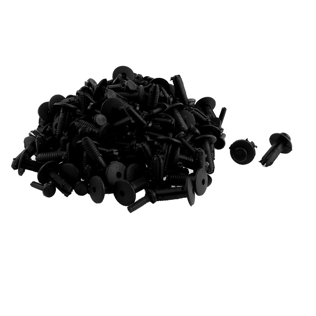 Car Door Fender Black Plastic Rivets Retainer Push Clips Fateners 100pcs