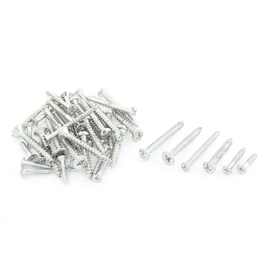 43 in 1 Silver Tone Phillips Head Self-Drilling Screw Tool Assortment Set