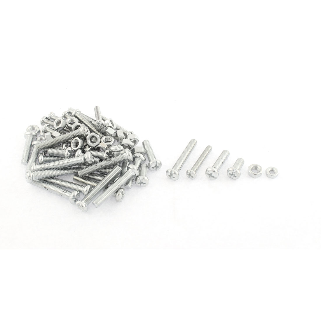 76 in 1 Phillips Pan Head Screw Bolts Nut Set Hardware Kit
