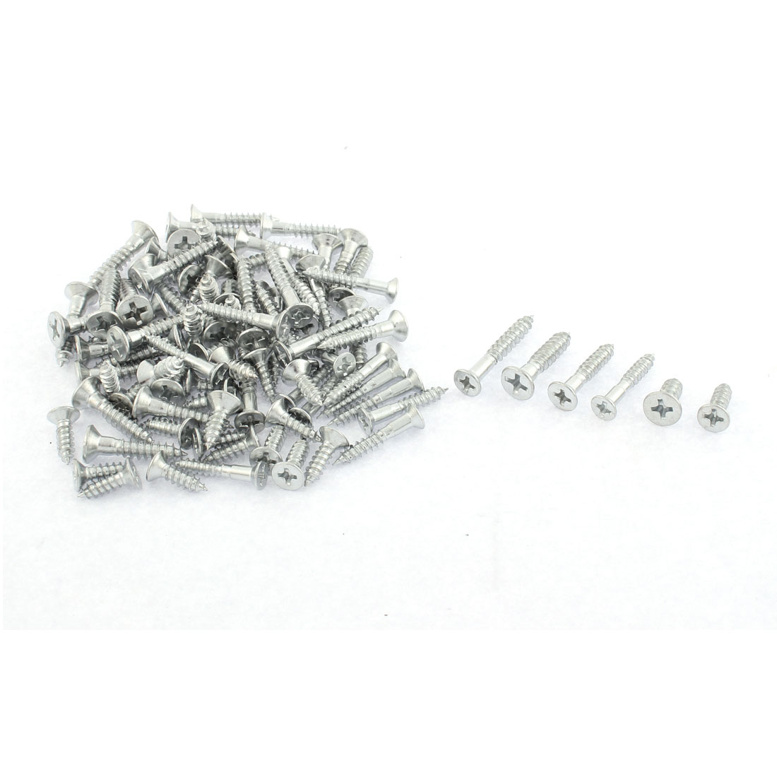65pcs Phillips Head Self Drilling Tapping Screws Assortment Set