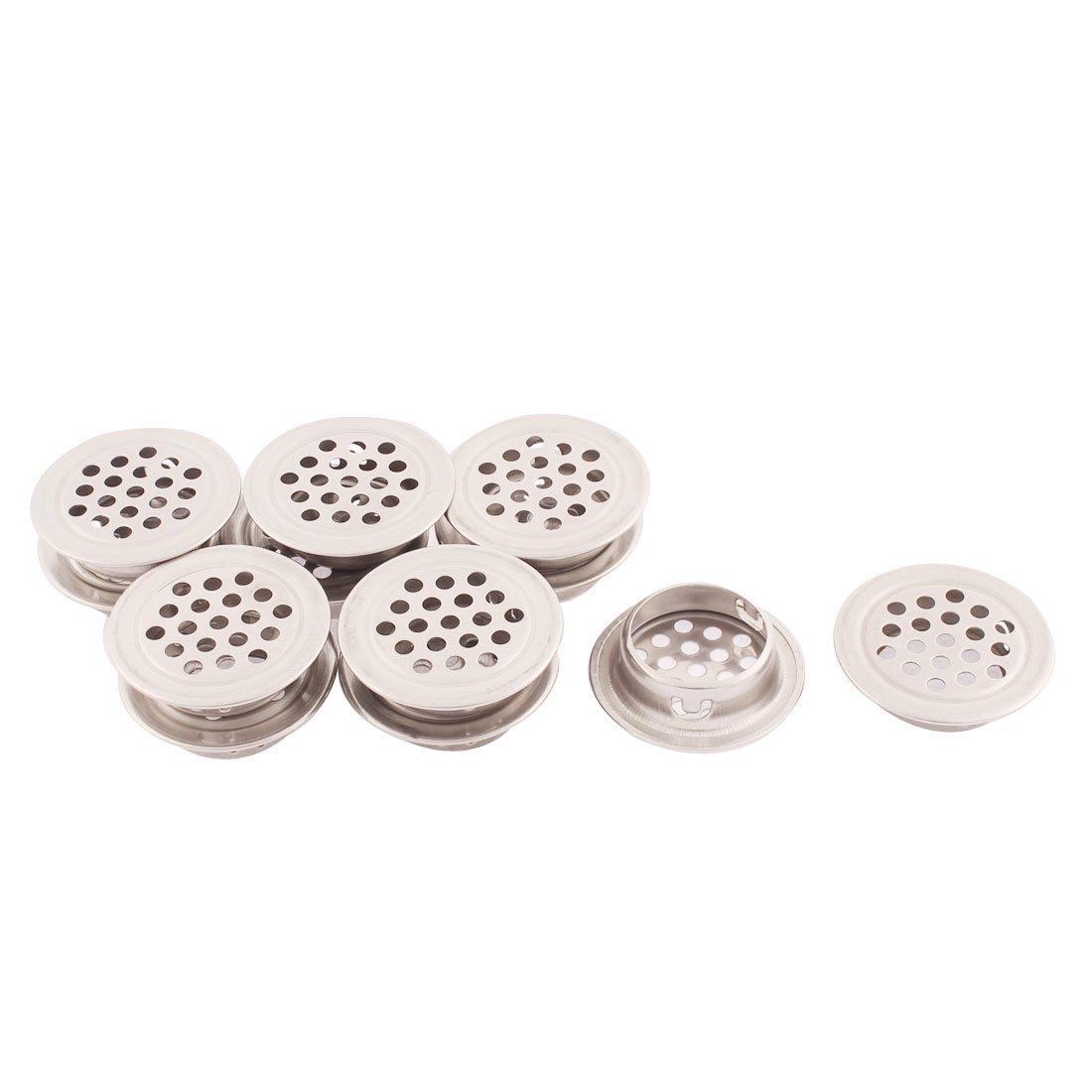 35mm Diameter Flat Metal Cabinet Air Vent Mesh Hole Louver 12pcs