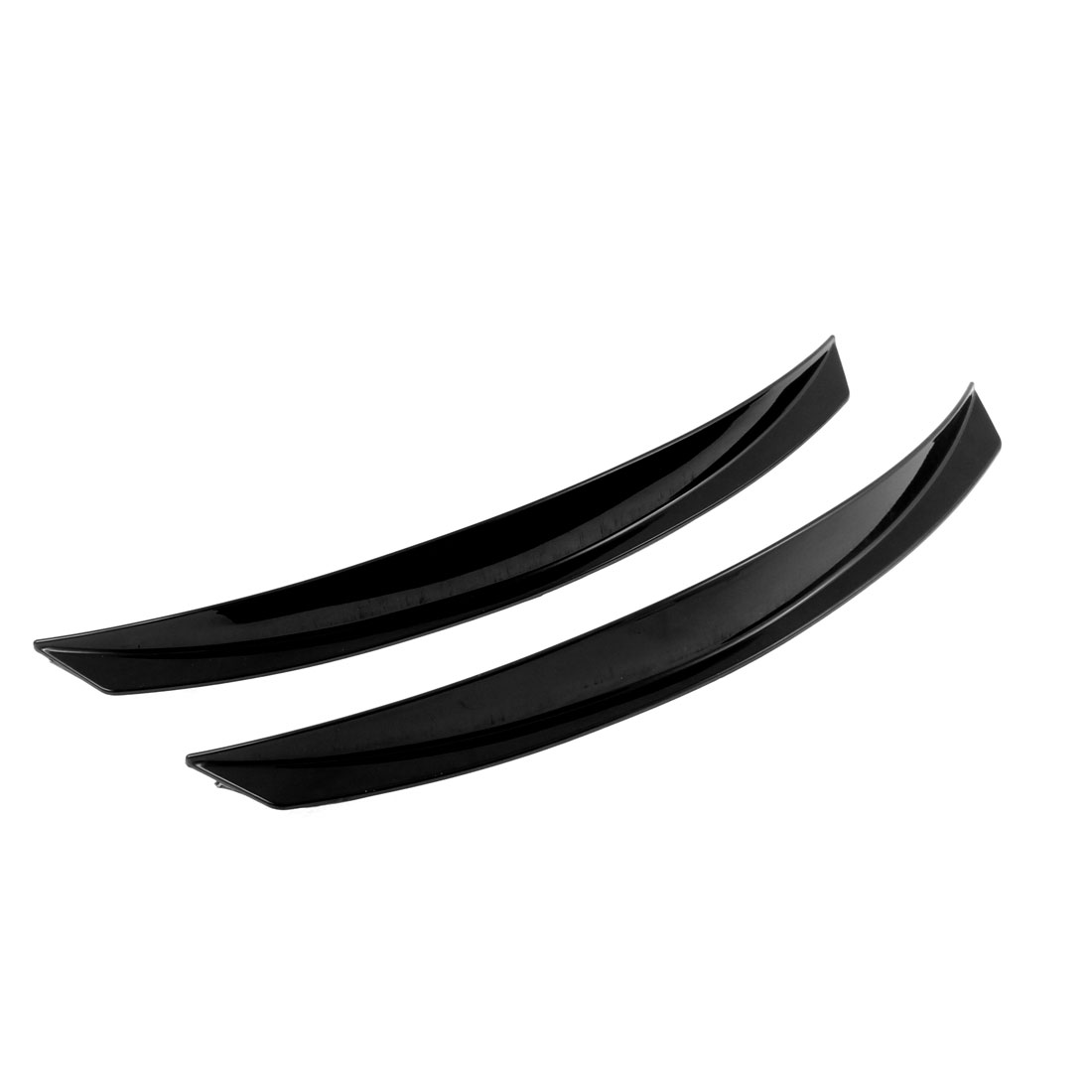 Universal Car Fender Black Plastic Decorative Wheel Eyebrow Strip 2pcs