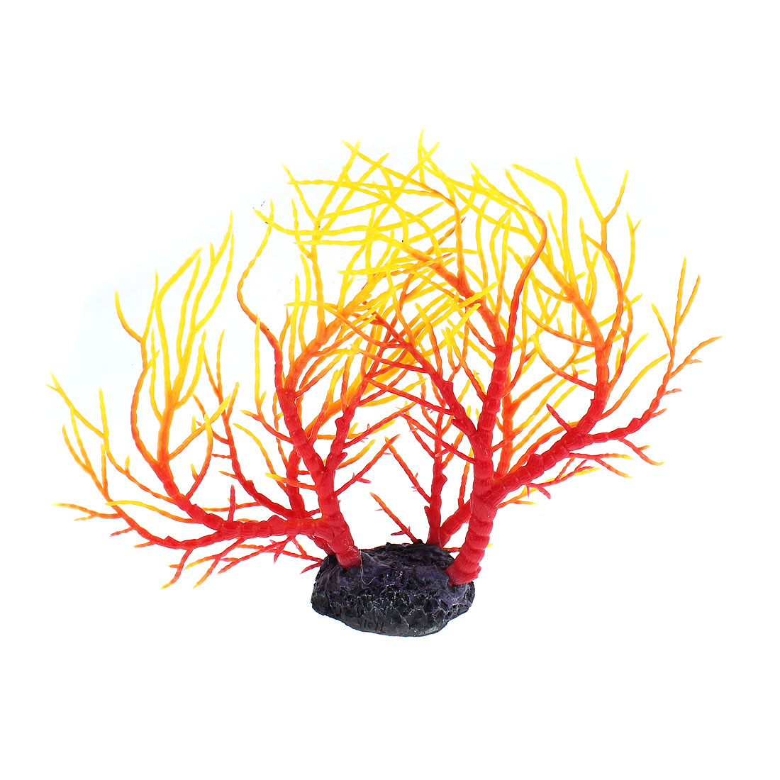 Aquarium Tank Artificial Coral Underwater Plant Tree Decor Red Yellow
