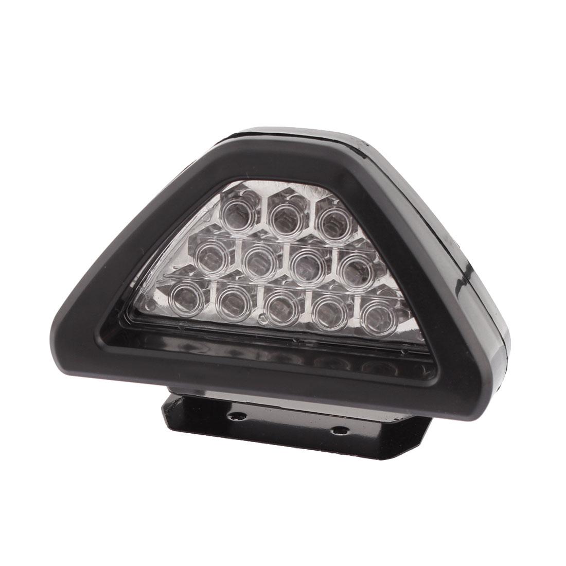 Triangle Shape Car Motorcycle Brake Flashing Light Lamp 12V 12 LEDs