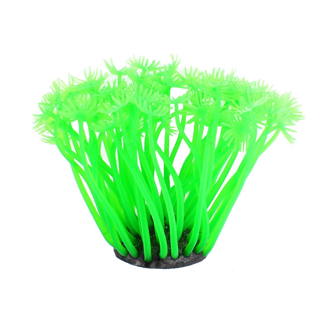 Aquarium Tank Artificial Soft Silicone Grass Decor Water Plant Green