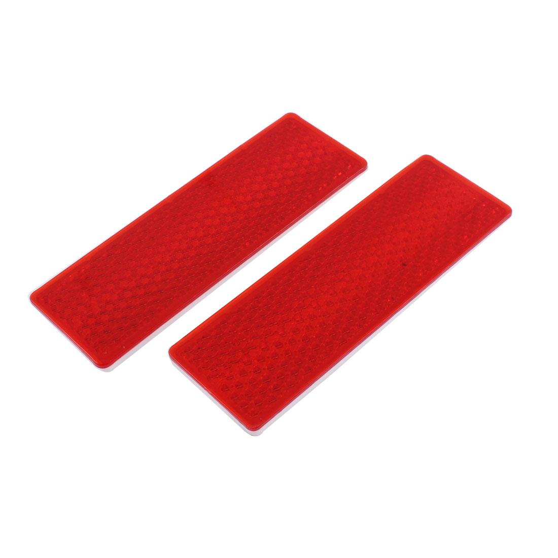 Truck Car Red Plastic Reflective Sign Reflector 15cm Long 2pcs
