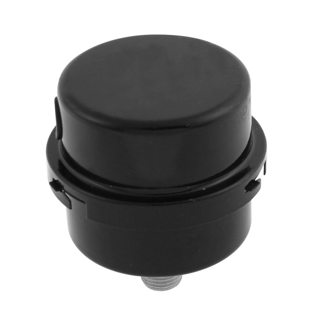 Air Compressor 12mm Male Thread Round Exhaust Filter Muffler Black
