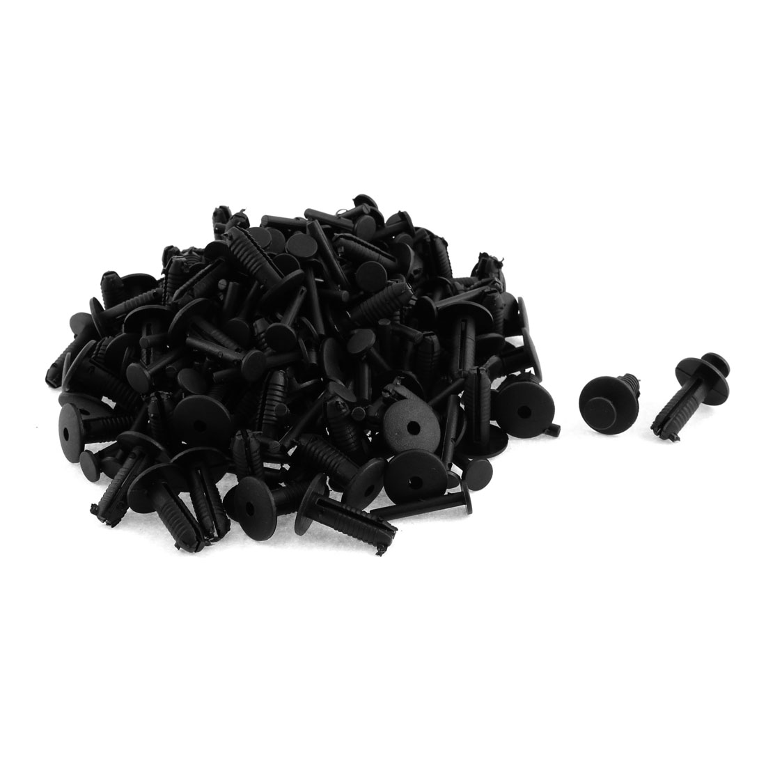 Universal Car Motorcycle Black Plastic Rivets Panel Fastener Clips 100pcs
