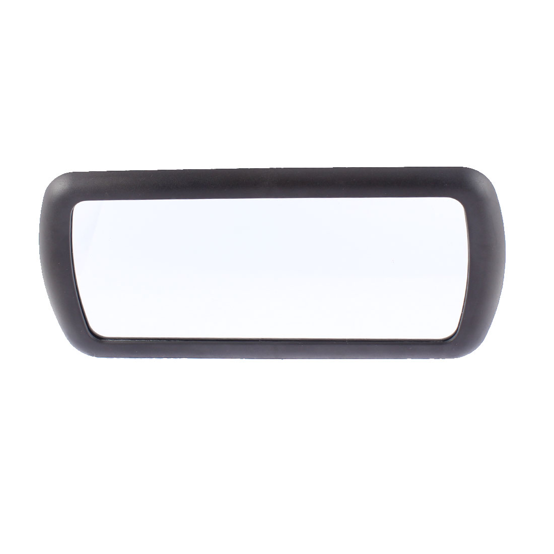 Auto Car Rectangle Plastic Frame Wide Angle Blind Spot Mirror Black