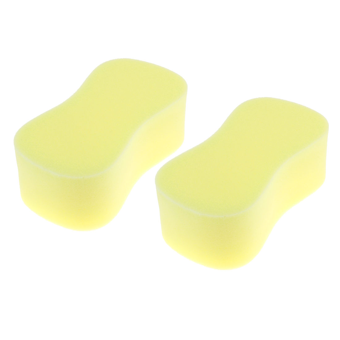 Multipurpose Yellow Car Clean Wash Pad Washing Sponge Cleaning Tool 2pcs
