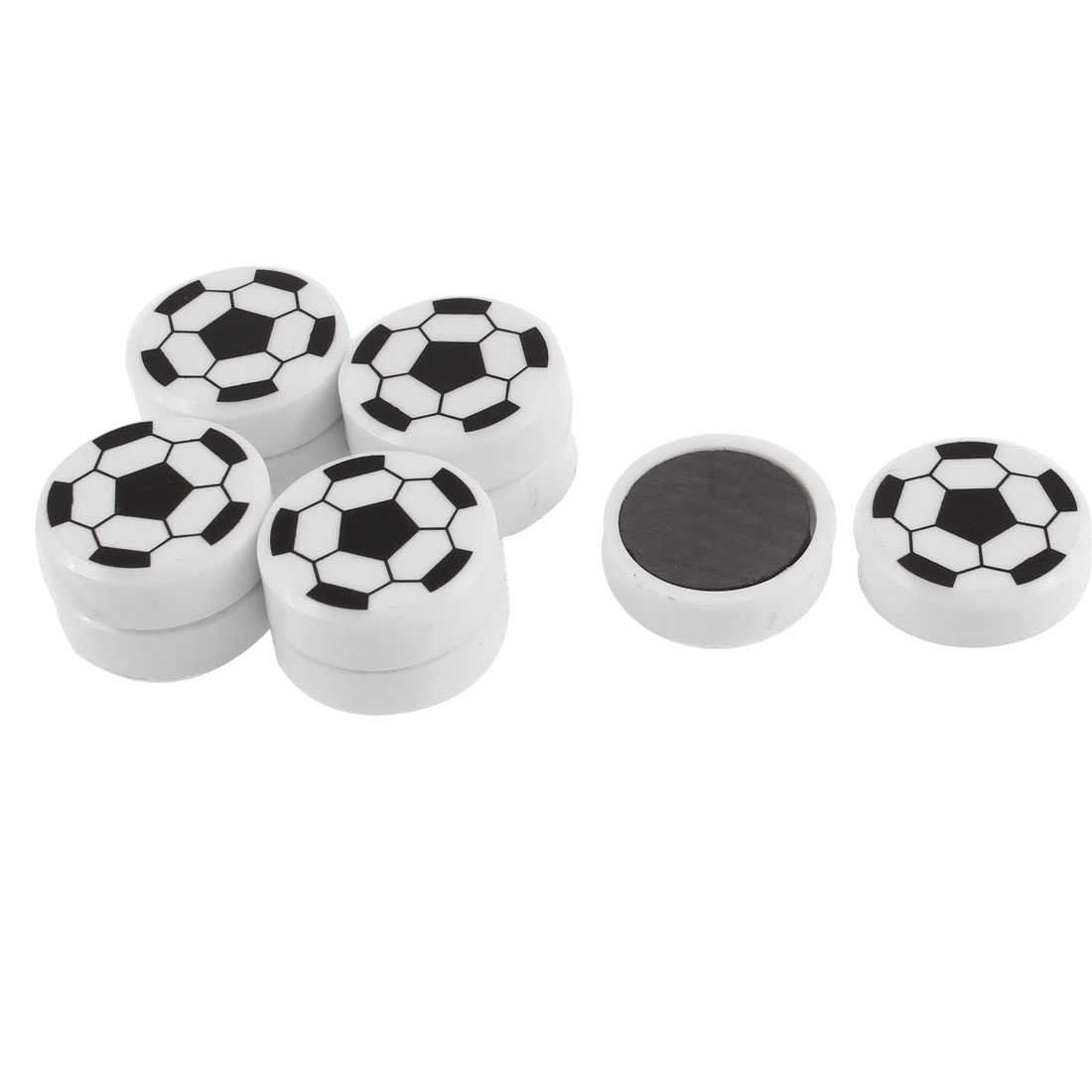 Soccer Ball Pattern Round Refrigerator Sticker Fridge Magnet 10pcs