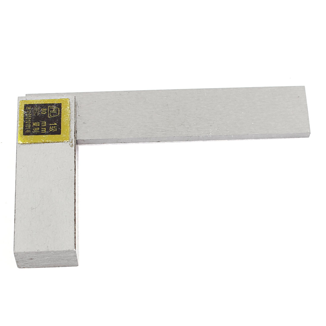 Metal 90 Degree Metric 80mm Scale Marks Try Square Ruler Tool