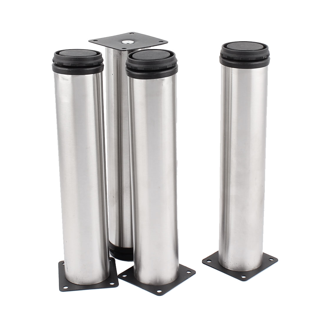 250mm Round Feet Stand Holder Stainless Steel Adjustable Cabinet Legs 4 Pcs