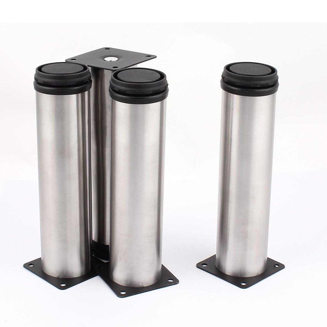 200mm Stainless Steel Adjustable Cabinet Legs Silver Tone 4pcs for Furniture Bed Table Sofa