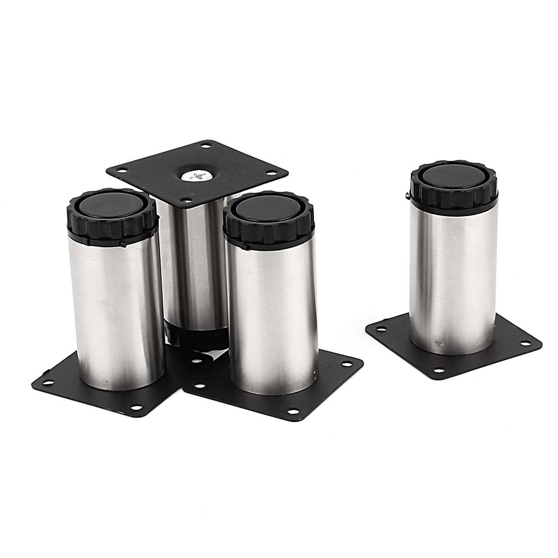 80mm Length Adjustable Cabinet Legs 4pcs for Furniture Sofa Tea Table Bed Shelf