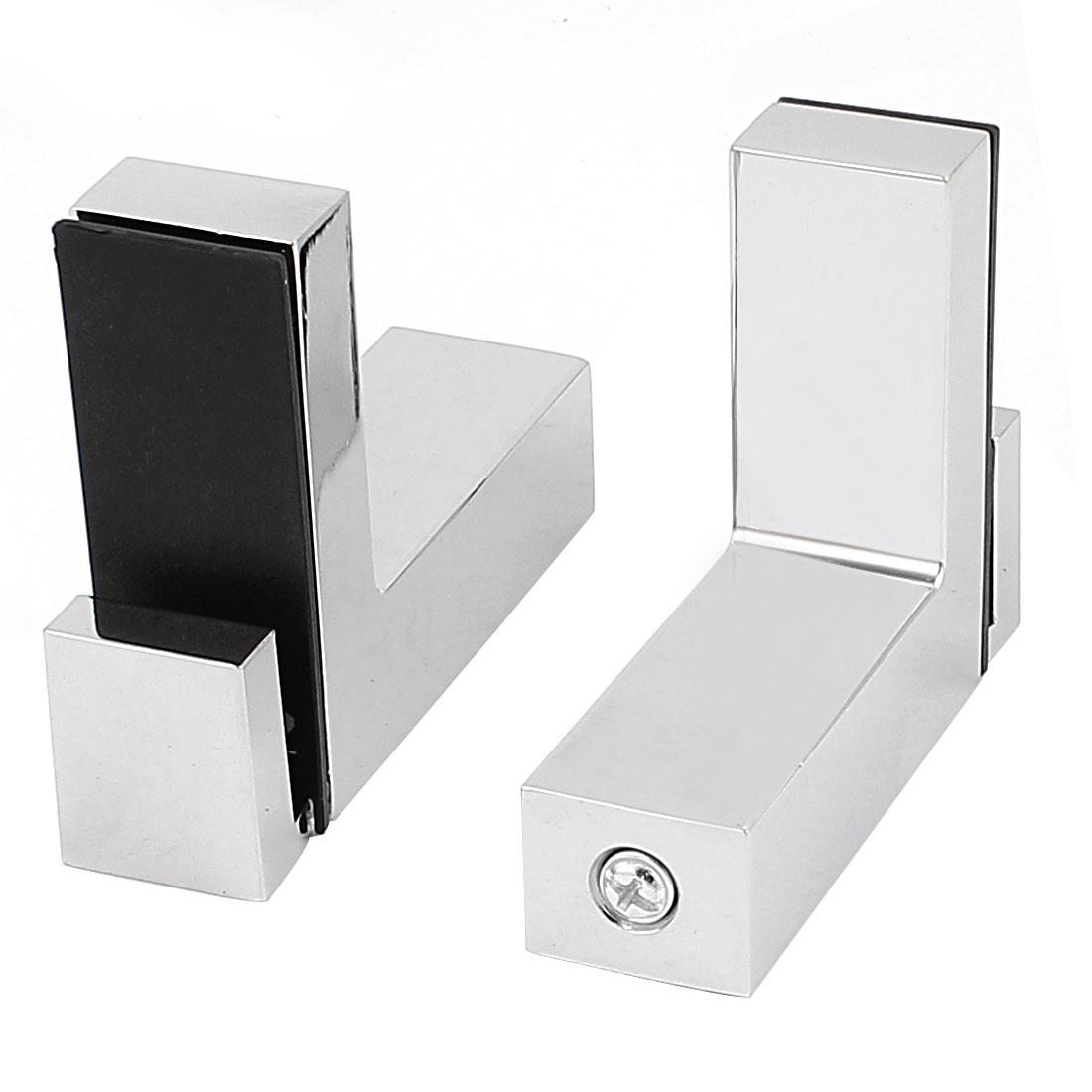 Polished Adjustable Glass Clamp Clips Bracket Grip Glass Holder 2 Pcs
