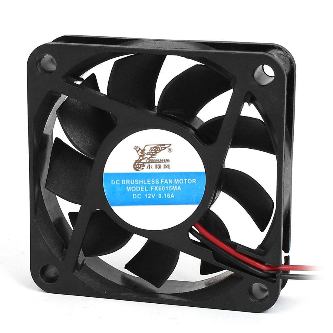 DC 12V 0.16A Computer Case Heatsink Cooler Brushless CPU Cooling Fan 6 x 6 x 1.5cm