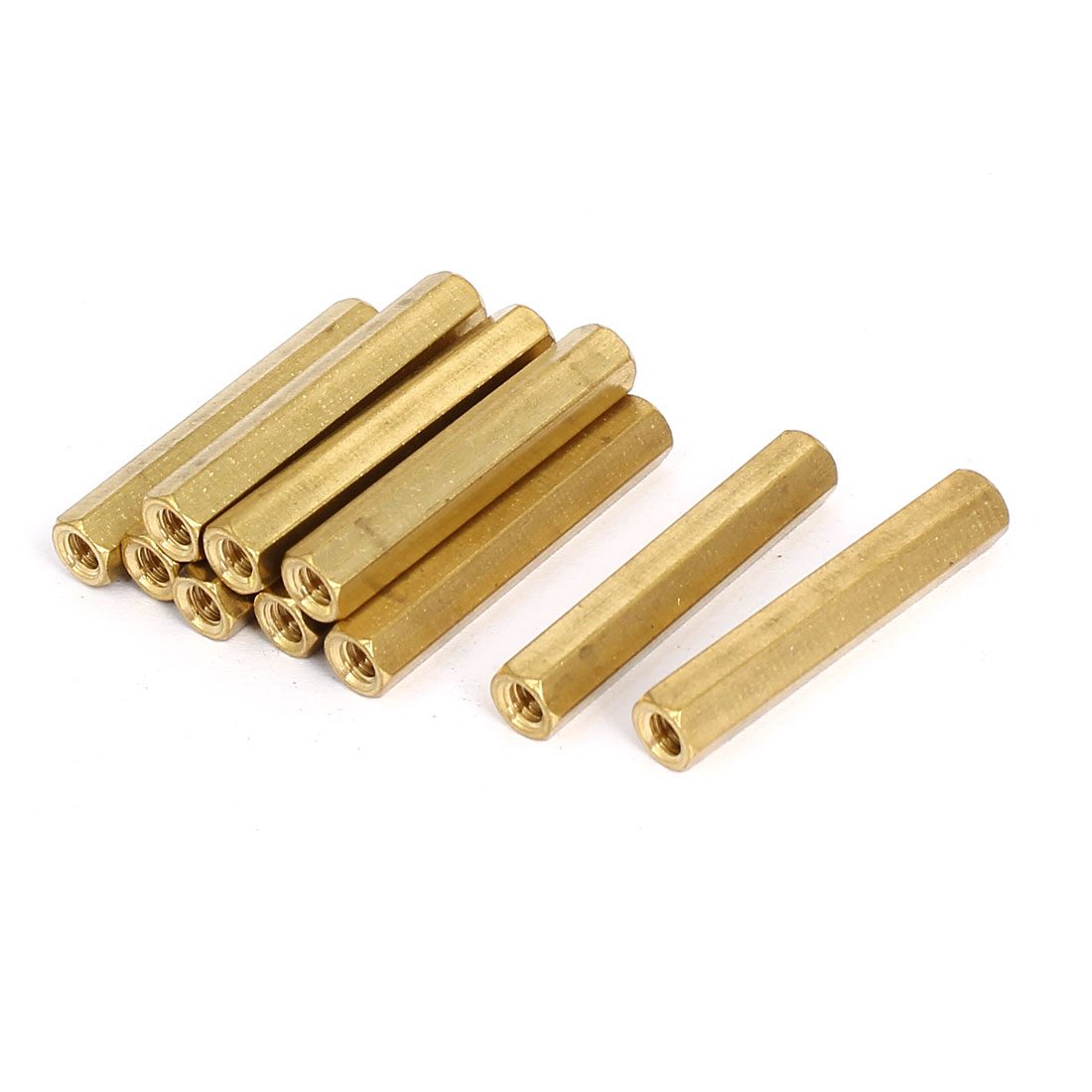M4x35mm Brass Hex Hexagonal Female Thread PCB Standoff Spacer 10pcs