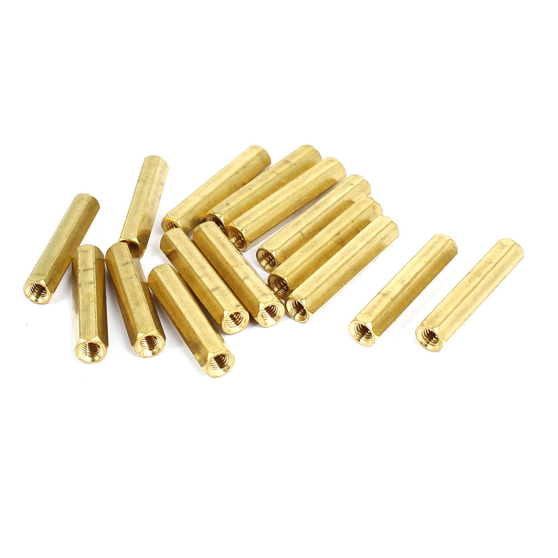 M4x30mm Brass Hex Hexagonal Female Thread PCB Standoff Spacer 15pcs