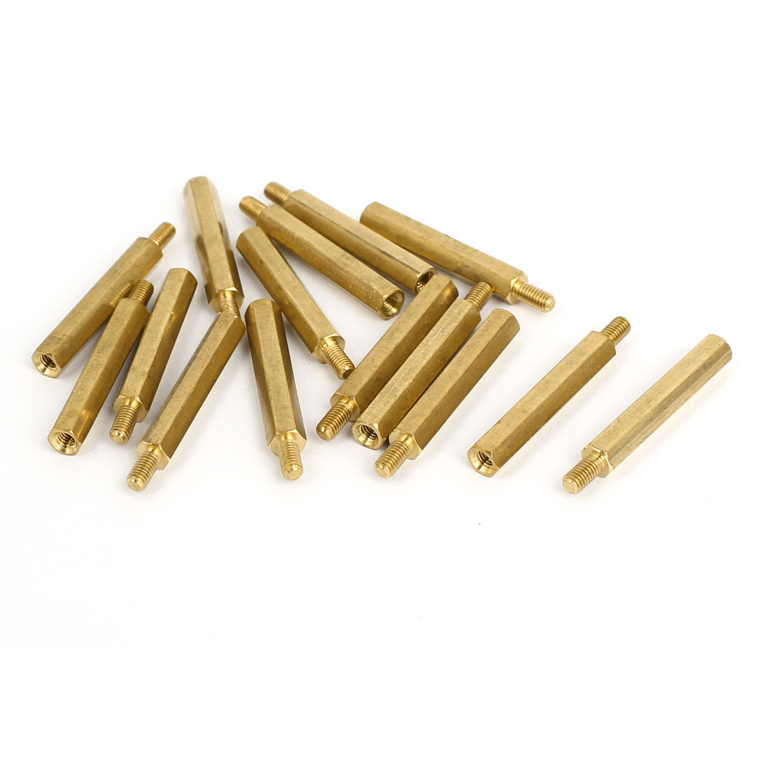 M3 Male/Female Thread Brass Hexagonal PCB Spacer Standoff Support 28mm+6mm 15pcs
