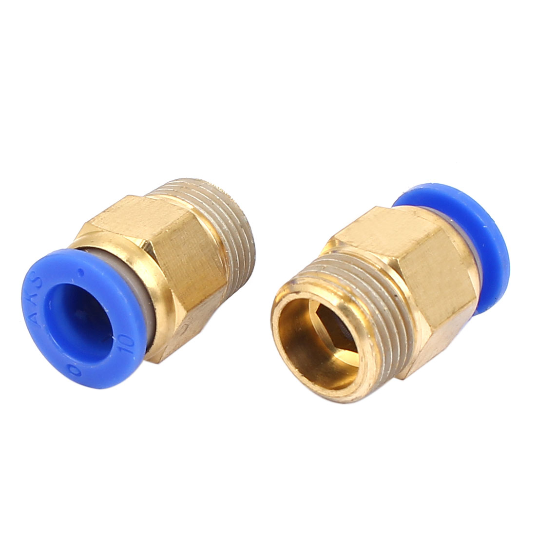 10mm to 3/8BSP Male Thread Pneumatic Quick Fitting Connector Joint 2pcs