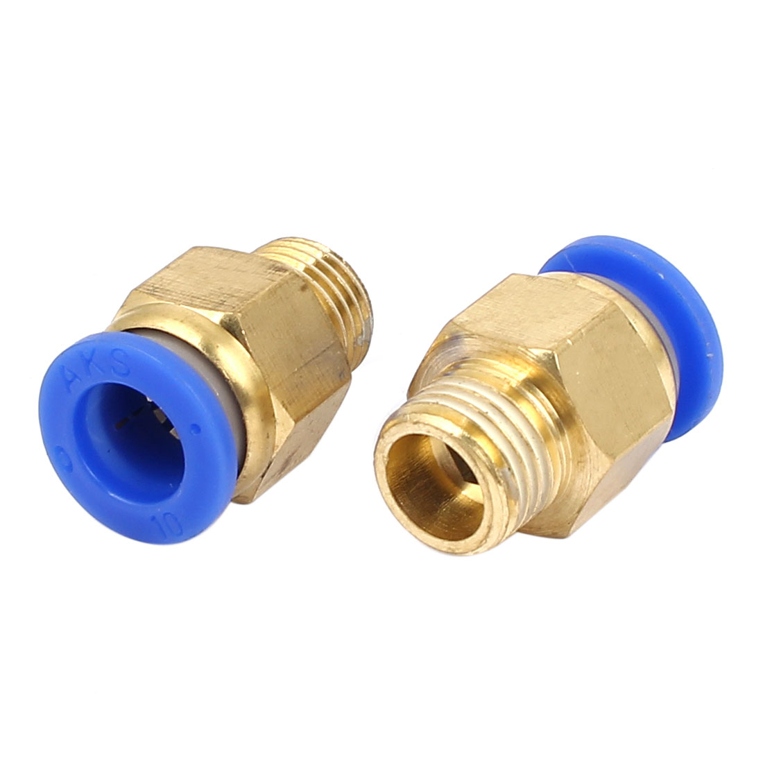 10mm to 1/4BSP Male Thread Pneumatic Tubing Push In Quick Fittings 2pcs