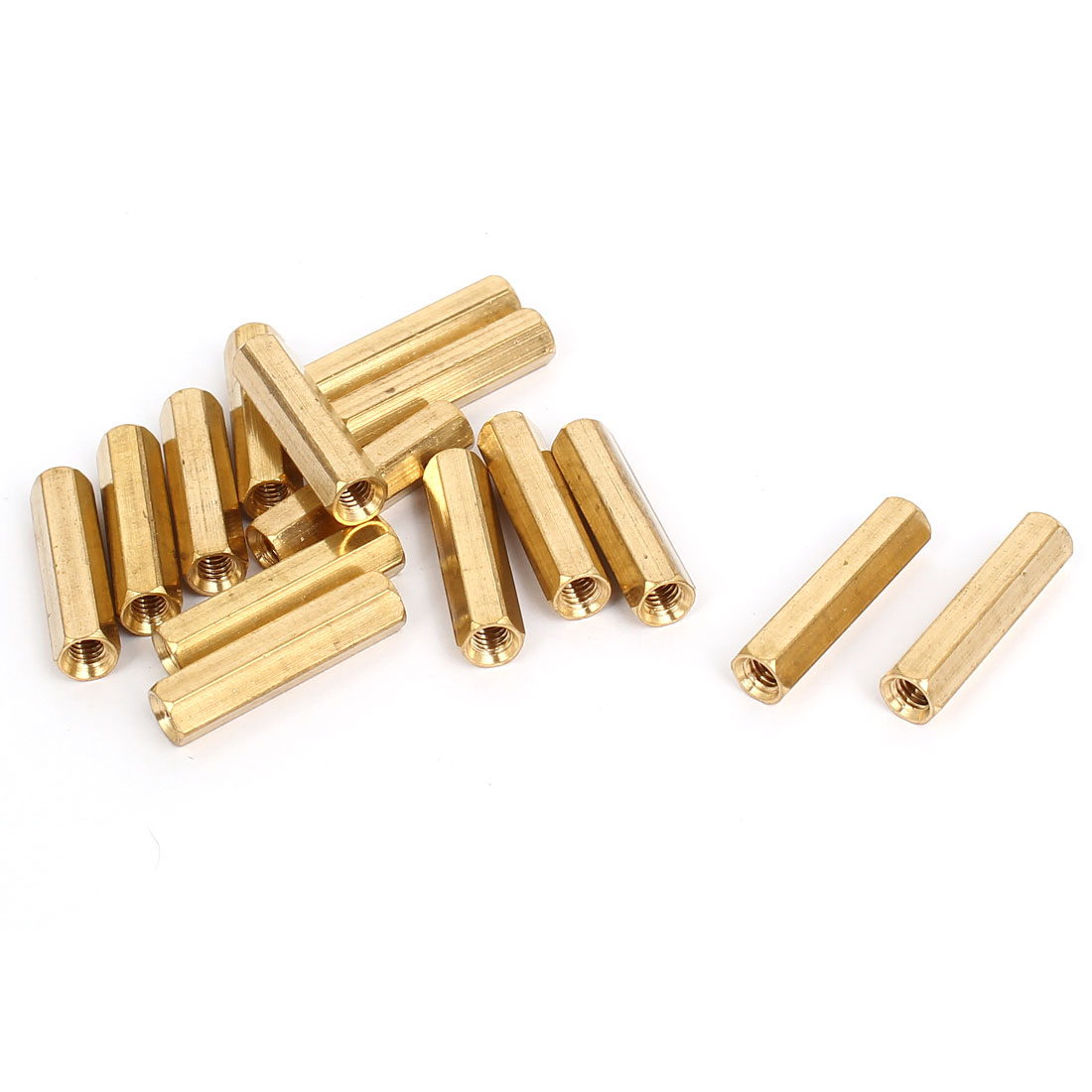 M4x25mm Brass Hex Hexagonal Female Thread PCB Standoff Spacer 15pcs