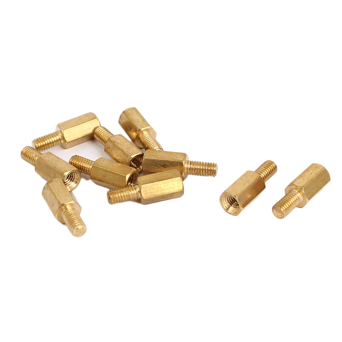M3 Hexagonal Pillar Male to Female Thread PCB Standoff Spacer 8mm+6mm 10pcs