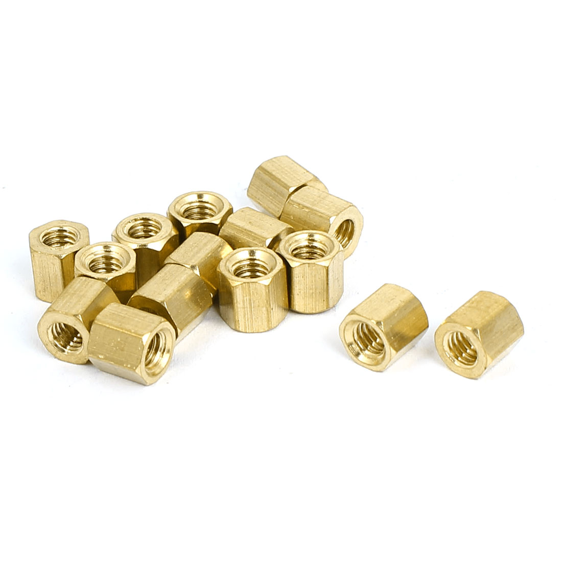 M4x6mm Brass Hex Hexagonal Female Threaded Standoff Spacer Pillars 15pcs