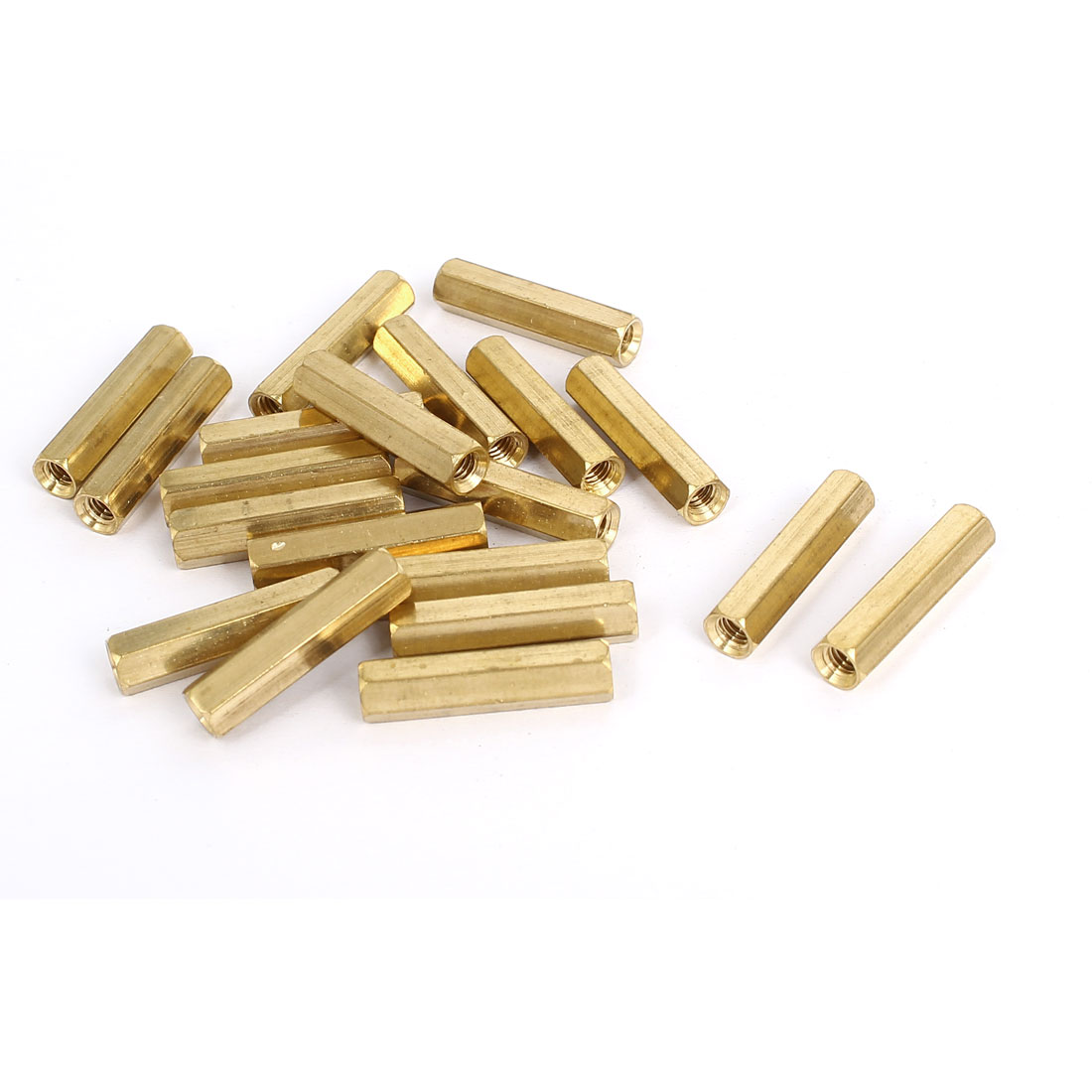 M4x25mm Brass Hex Hexagonal Female Thread PCB Standoff Spacer 20pcs