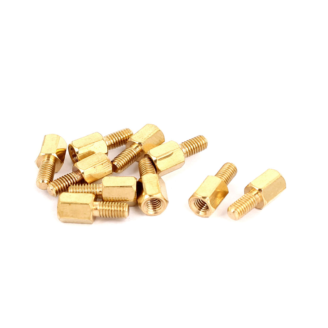 M3 Male/Female Thread Brass Hexagonal PCB Spacer Standoff Support 6mm+6mm 10pcs