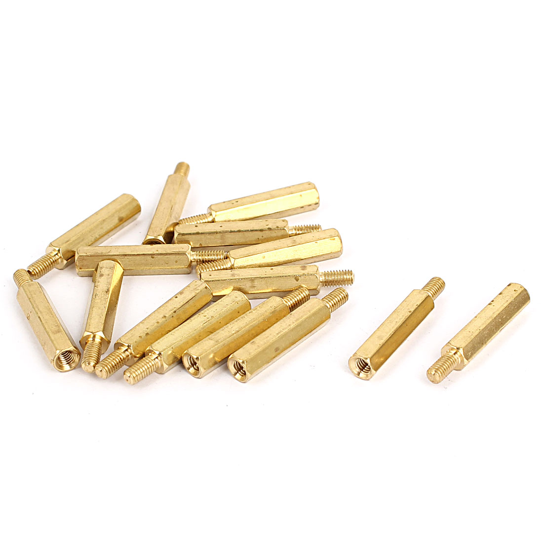 M3 Hexagonal Pillar Male to Female Thread PCB Standoff Spacer 20mm+6mm 15pcs