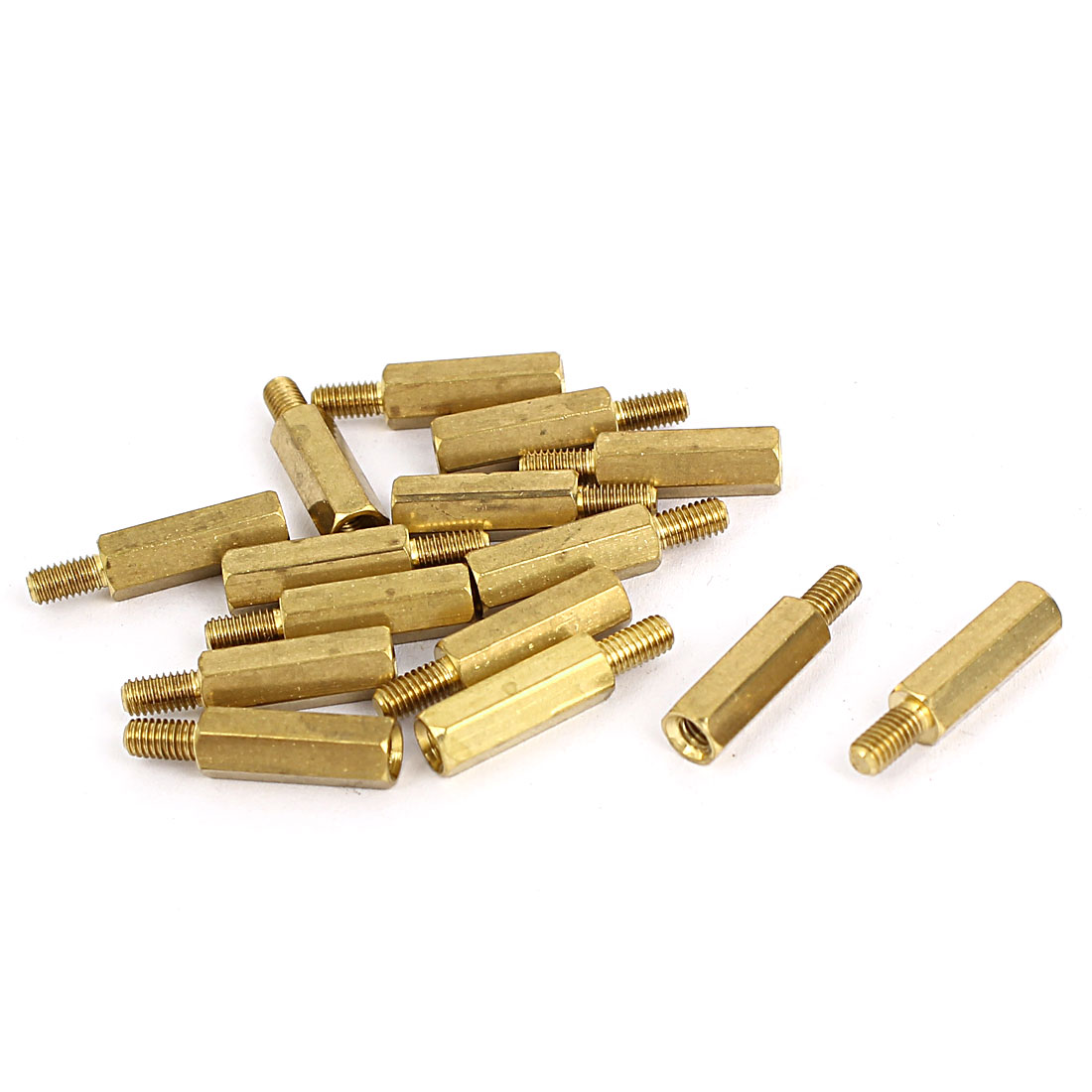 M3 Male/Female Thread Brass Hex Hexagonal PCB Spacer Standoff Support 14mm+6mm 15pcs