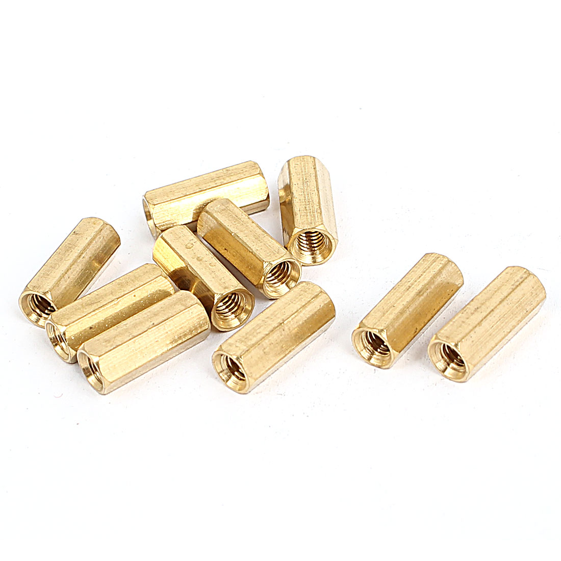M4x15mm Brass Hex Hexagonal Female Thread PCB Standoff Spacer 10pcs