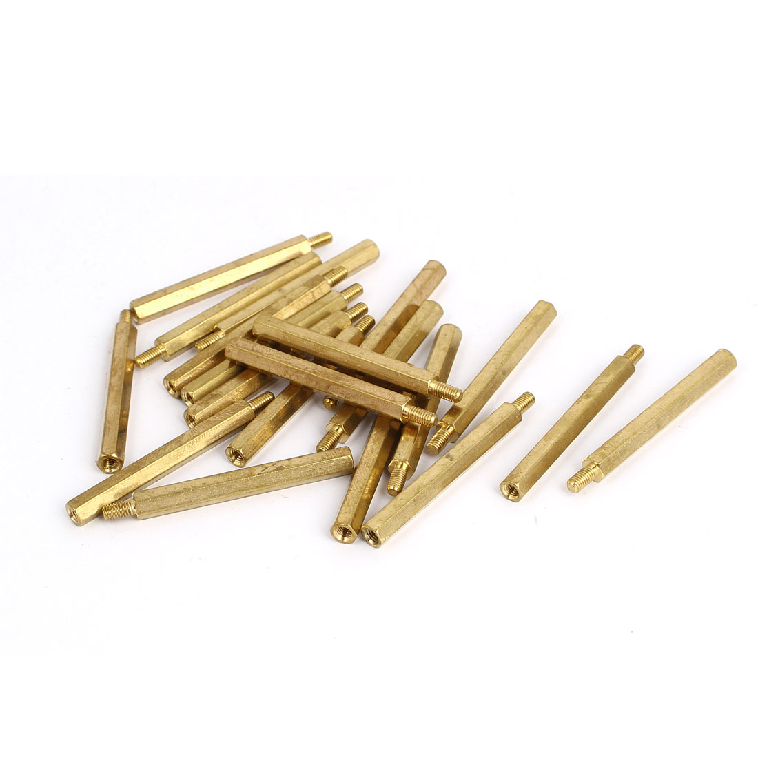 M3 Male to Female Thread Insulated Brass Standoff Hexagonal Spacer 40+6mm Long 20pcs