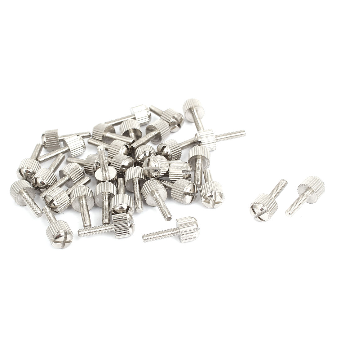 Computer PC Case Metal Knurled Head Phillips Thumb Screws M3x12mm 35pcs